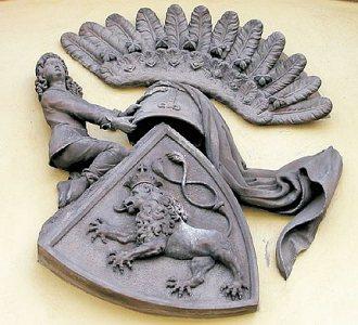Jedna z podob slánského heraldického městského znaku