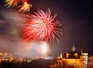 Novoroční ohňostroj kpřivítání roku 2009
