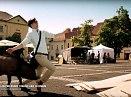 Televizní reklama natočená na slánském náměstí běží na Slovensku