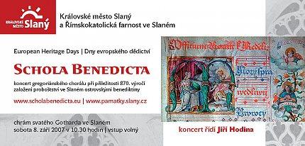 Schola Benedicta - pozvánka