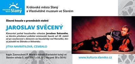 Jaroslav Svěcený - pozvánka