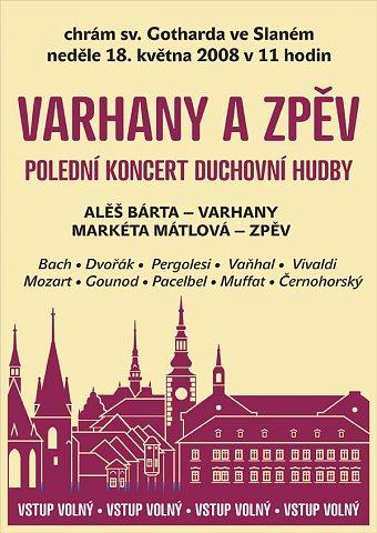 Varhany a zpěv - plakát