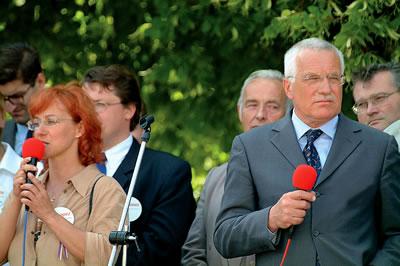 Prezident České republiky Václav Klaus ve Slaném (foto: Pavel Vychodil)