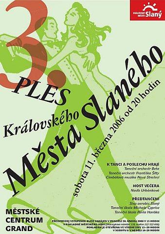 Letáček na ples Královského města Slaného (repro: Ivo Horňák)