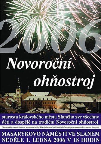 Propagační letáček na Novoroční ohňostroj (repro: Ivo Horňák)