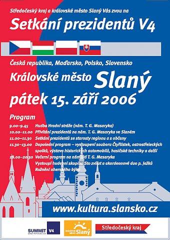 Setkání prezidentů V4 - plakát (repro: Jan Renner)