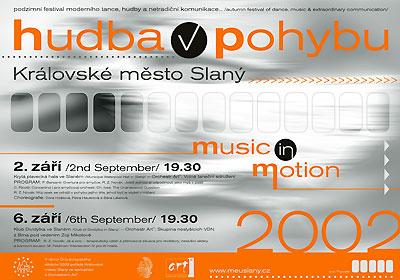 Plakát festivalu Hudba v pohybu (repro: Jan Renner)