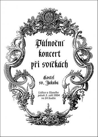 Půlnoční koncert při svíčkách (první strana programu)