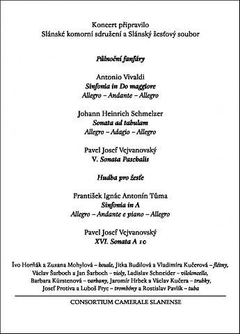 Půlnoční koncert při svíčkách (druhá strana programu)