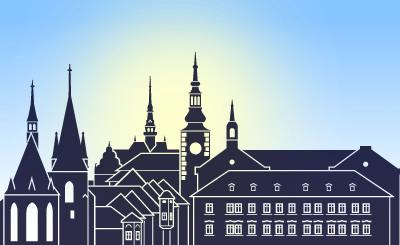 Silueta města Slaný (repro: Jan Renner)