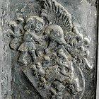 Různé podoby slánského znaku: Pražská brána (1450)