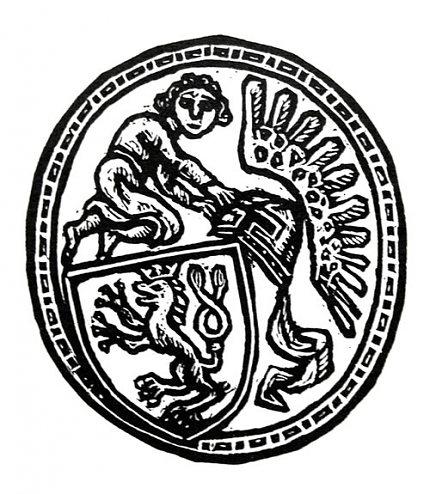 Různé podoby slánského znaku: Z.Mézl (1995)
