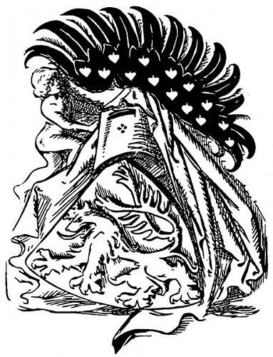 Různé podoby slánského znaku: M.Aleš (1897)