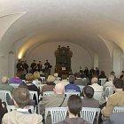 Pohled do refektáře kostela Nejsv. Trojice ve Slaném