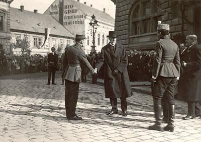 T. G.Masaryk ve Slaném v roce 1919 (repro: Pavel Vychodil)