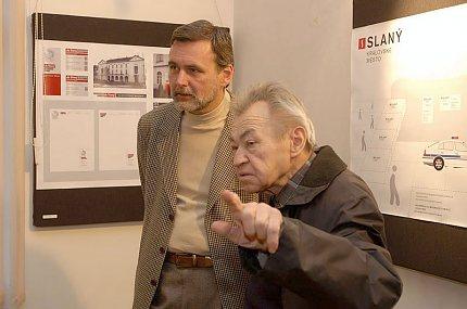 Z výstavy Město Slaný a jeho vizuální styl (foto: J.Jaroch)