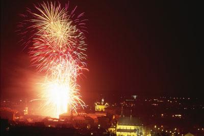 Novoroční ohňostroj 2007
