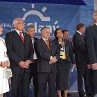 Setkání prezidentů Visegrádské čtyřky (V4) ve Slaném