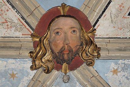 Hlava krista v chrámu sv.Gotharda