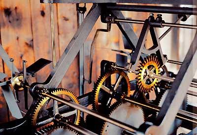Hodinový stroj z věže slánské radnice (foto: Jiří Jaroch)