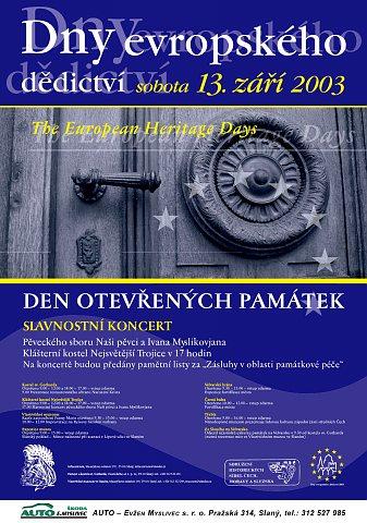 Dny evropského dědictví - plakát