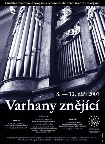 Varhany znějící - plakát