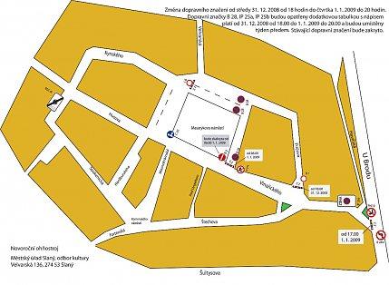 Dopravní situace – 31. 12. 2008 a 1. 1. 2009