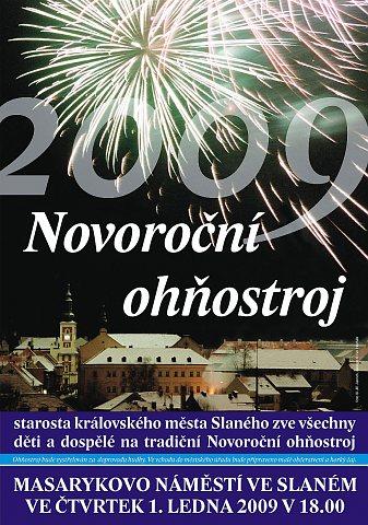 Novoroční ohňostroj 2009 – pozvánka