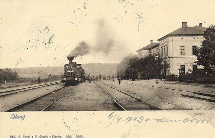 Nádraží ve Slaném na počátku 20. století