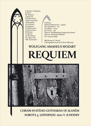 Mozartovo Requiem ve Slaném – plakát