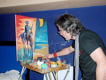 Bulharský malíř Rumen Sazdov