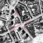 Letecký snímek Wilsonovy ulice r. 1969