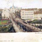 Pohlednice Wilsonovy ulice před r. 1904
