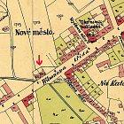 Zakreslení domů na mapě z roku 1925