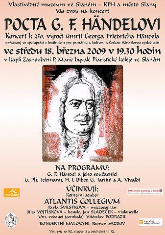 Pocta G.F.Händelovi – plakát