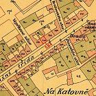 Zakreslení domu č. p. 584 na plánu města z roku 1901