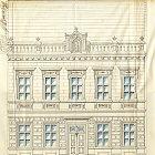 Originální plán průčelí domu č. p. 584