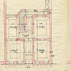 Originální plán půdorysu přízemí domu č. p. 584