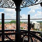 Současný pohled z věže bývalého Okresního domu