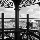 Současný pohled z věže bývalého Okresního domu (BW)