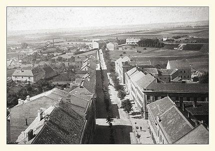 Pohled č. 6. – pohled do Wilsonovy ulice z roku 1903