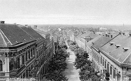 Pohled z Okresního domu do Wilsonovy ulice – 30. léta 20. století