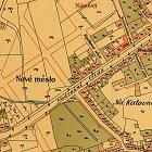 Zakreslení domu čp. 596 na mapě města z roku 1901