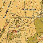 Zakreslení domu čp. 619 a okolí na plánu města z roku 1901