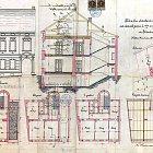 Originální plán domu čp. 619 stavebníka V. Havránka z roku 1895