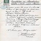 Žádost o povolení domy čp. 619 a čp. 620 obývati (23. 10. 1895)