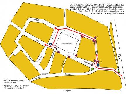 Plán dopravní uzavírky a objížďky