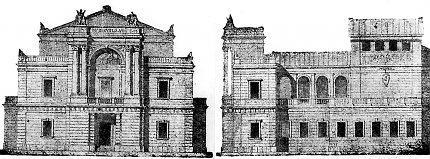 Návrh budovy divadla od Jana Kouly a Antonína Wiehla.