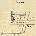 Nákres stavební situace na rohu Wilsonovy a Vepřkovy ulice
