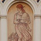 Alegorická postava Spořivosti, sgrafito dle návrhu M. Alše